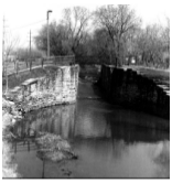 View of lock number one in lockport il.